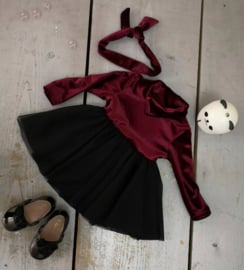 Velvet tutu dress bordeaux