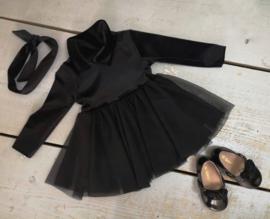 Velvet tutu dress black