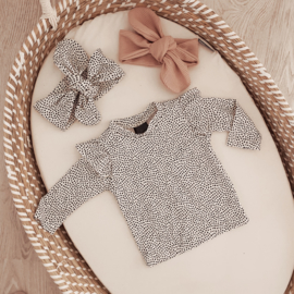 Ruffle shirt little dots