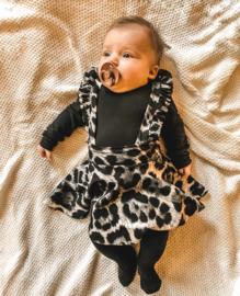 Suspender dress leopard
