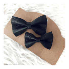 MOM&ME PIN BOW BLACK
