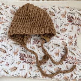 NEWBORN | Baby bonnet caramel