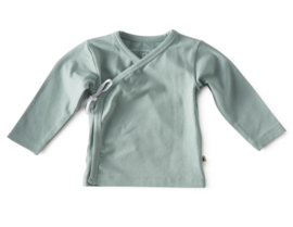 NEWBORN | Overslag shirt mint