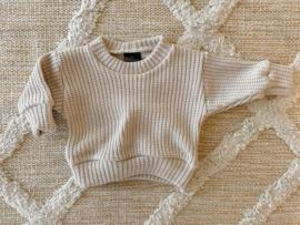 Big knit trui beige