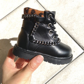 Chain and leopard boots