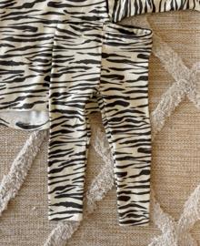 Legging rib zebra ecru
