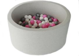 Ballenbak licht grijs 40 cm hoog incl 200 ballen