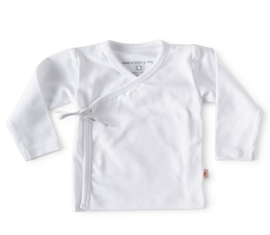 NEWBORN | Overslag shirt wit