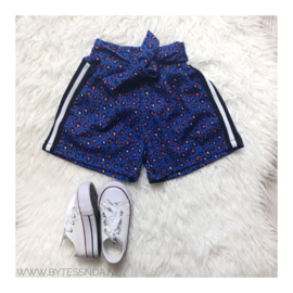 BLUE LEOPARD SHORT