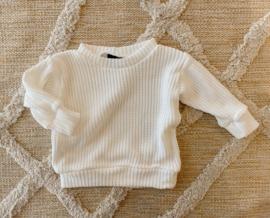 Big knit trui white