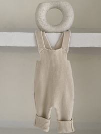 Little knit overall beige