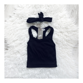 MY TANKTOP BLACK & HEADBAND