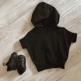 Puffed hoodie zwart