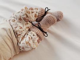NEWBORN | Baby slofjes Merino light sand