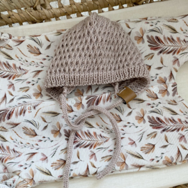 NEWBORN | Baby bonnet light sand