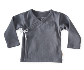 NEWBORN | Overslag shirt antraciet