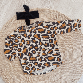 Loose fit shirt oker leopard