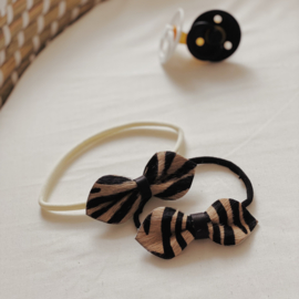 TIGER BOW & OFF WHITE BAND