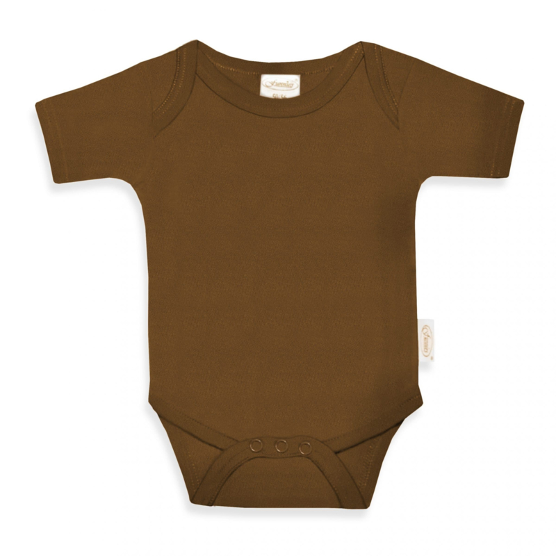 NEWBORN | Romper met naam brown clay