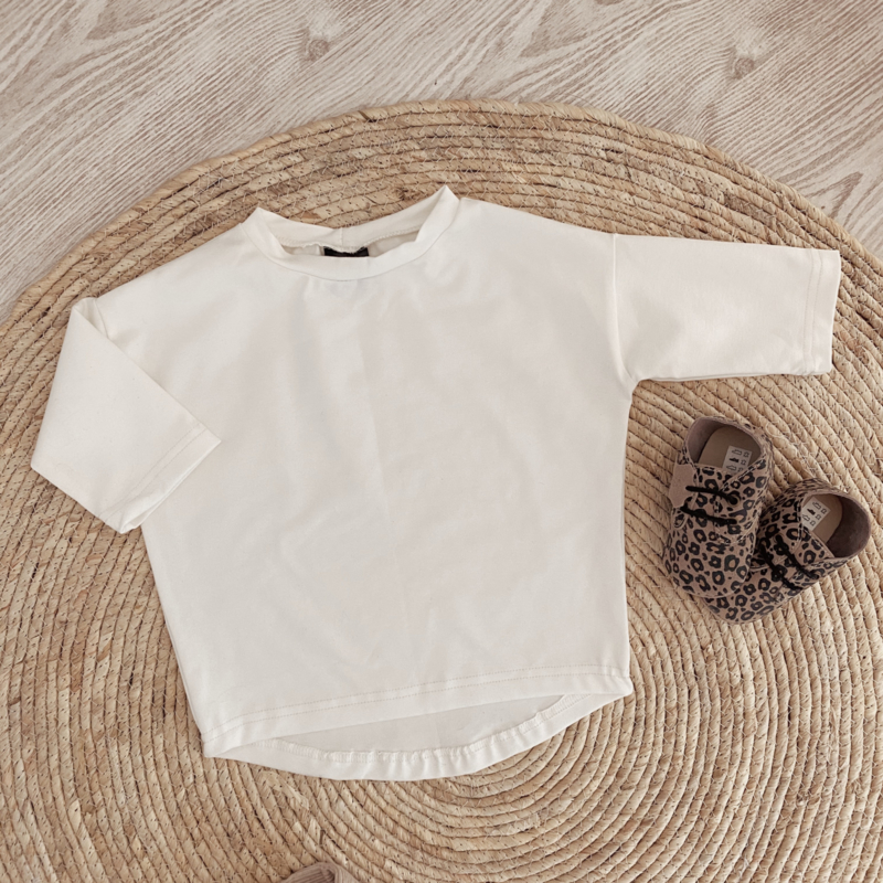 Loose fit shirt off white
