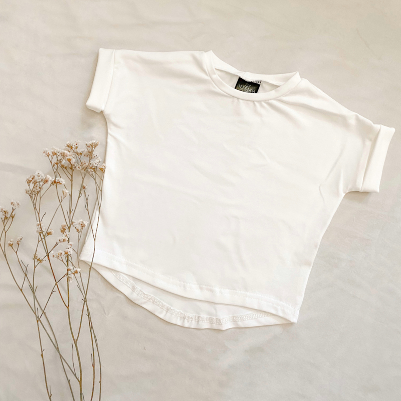 Loose fit top off white