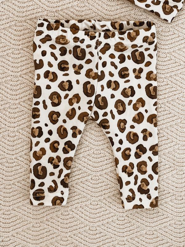 Legging watercolour leopard