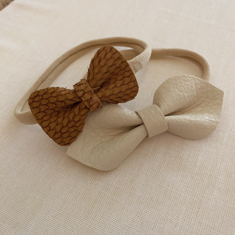 Haarband beige white