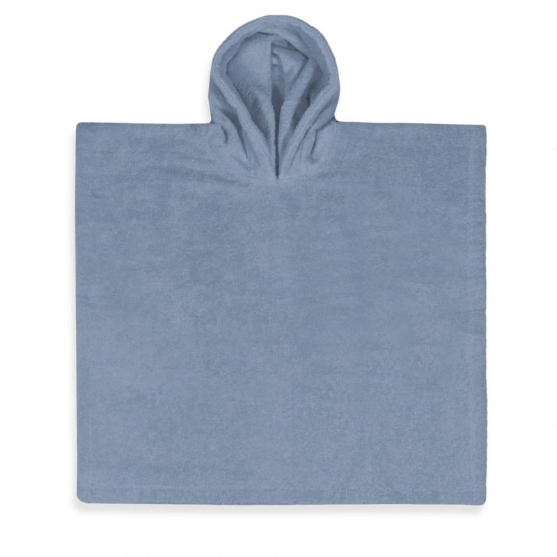 Poncho grey/blue