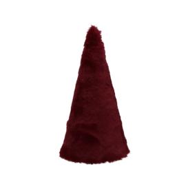 Kerstboom namaakbont | rood