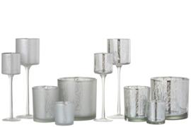 Windlicht boom assortiment mix | zilver/mat