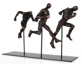 Beeld hardlopende mannen