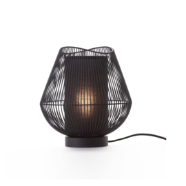 Tafellamp metaal/hout | zwart