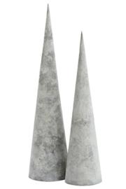 Kerstboom set metaal | grijs