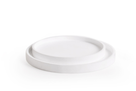 Low tray rond | wit (set 2)