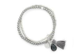 Armband duo grijs/zilver