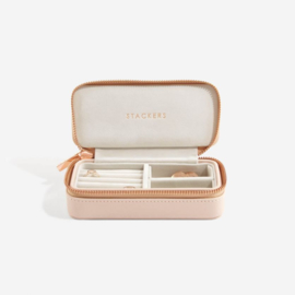 stackers travel jewellery box blush pink
