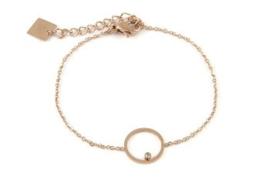 Armband rosé cirkel diamant
