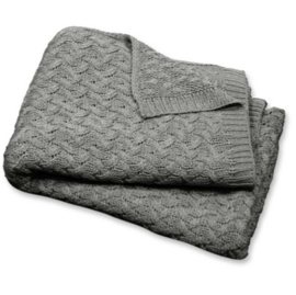 Plaid romy throw | grey