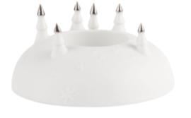 Theelicht kerstbomen | wit/ zilver