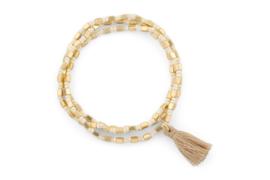 Armband wit/goud