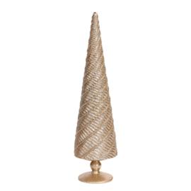 Kerstboom twist glitter | goud