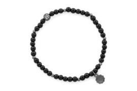 Armband zwart diamanten bol
