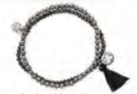 Armband duo zwart/zilver