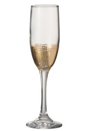 Champagneglas met gouden raster