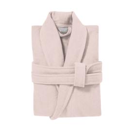 Badlinnen badjas | pearl pink