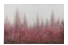 Schilderij flits | bordeaux/wit