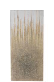 Schilderij spatten | goud/crème