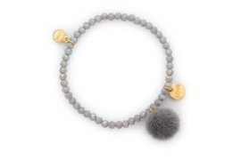Armband pompon | grijs
