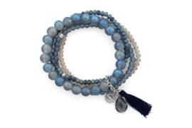 Armband 4-delig | blauw