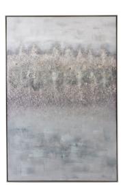 Schilderij eb | grijs/wit